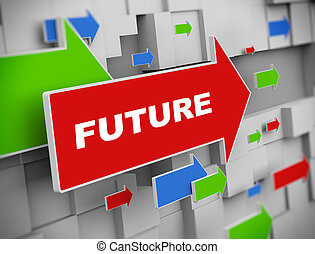 3d moving arrow - future