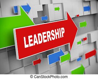 3d moving arrow -leadership