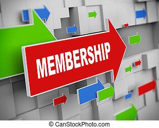3d moving arrow - membership