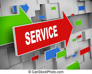 3d moving arrow - service