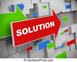 3d moving arrow - solution