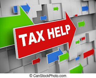 3d moving arrow - tax help