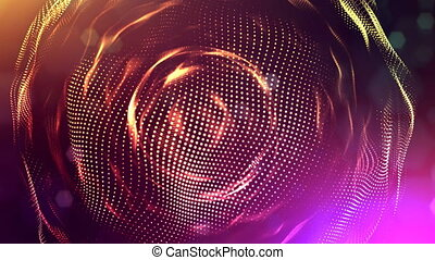 3d multi-colored background with fantastic luminous...