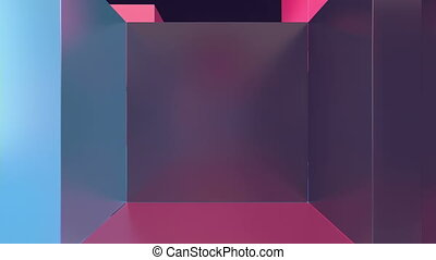 3D Multicolored Cubes in a Cyberspace