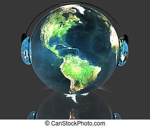 3D music globe