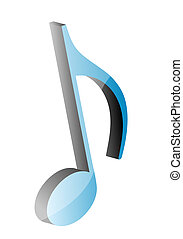3D music note