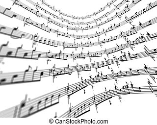 3d music notes