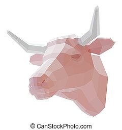 3d muzzle of a cow on a white background