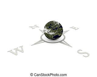 3d, navigation, compas