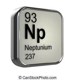 3d render of neptunium element design