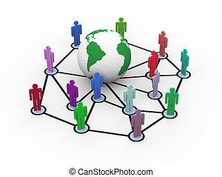 3d network concept