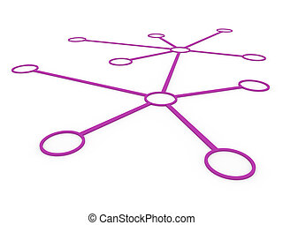 3d network purple
