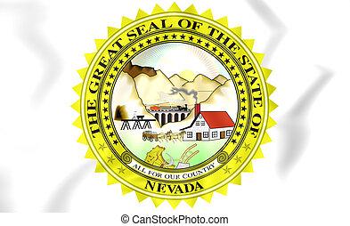 Nevada State Seal, USA. - 3D Nevada State Seal, USA. Close...