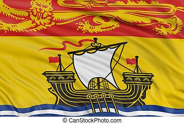 3D New Brunswick Flag