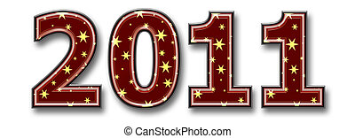 3d new year 2011 illustration