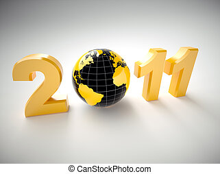 3d new year 2011 illustration