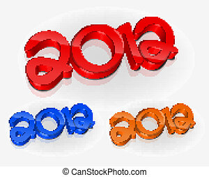 3d new year 2012 design