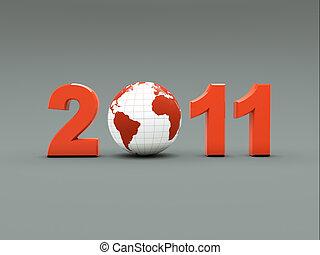 3d new year illustration