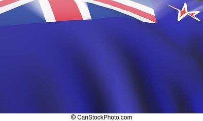 New Zealand Flag - 3D New Zealand Flag