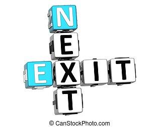 3D Next Exit Crossword