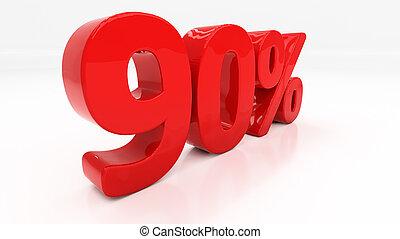 3D ninety percent - Ninety percent off. Discount 90....