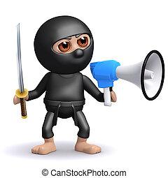 3d Ninja megaphone