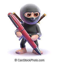 3d Ninja pen