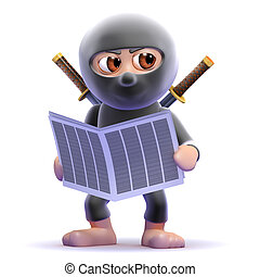 3d Ninja reads the news