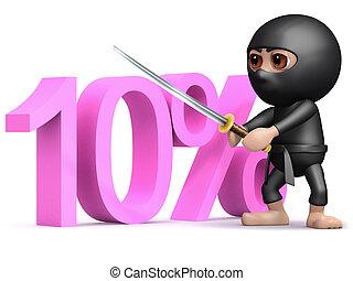 3d Ninja ten percent