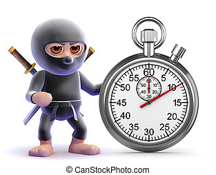 3d Ninja timer