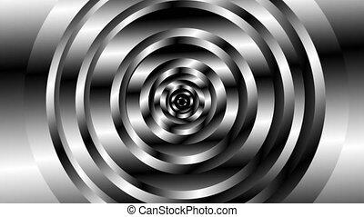 3d, noir, résumé, generated., rotation, fond, mouvement, vortex, formes, informatique, géométrique, blanc, rendre, cercle