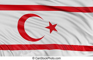 3D North Cyprus flag