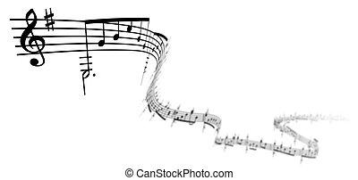 3d, note musica