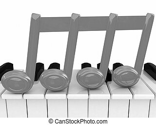 3d note on a piano