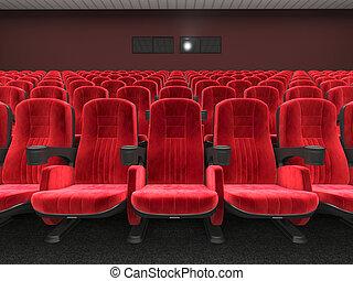 3d, nowoczesny, kino, przedstawienie