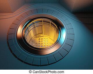 3d Nuclear reactor core meltdown - 3d render of a nuclear ...