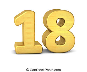 3d number 18 gold Illustrations and Stock Art. 59 3d number 18 ... on