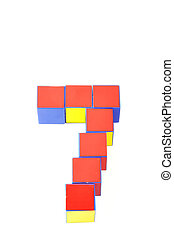 3d numbers by Cubes. seven