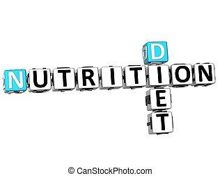 3D Nutrition Diet Crossword