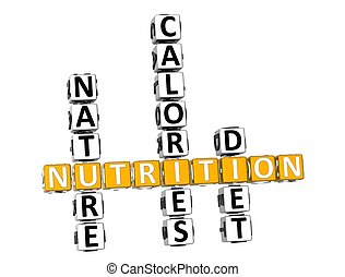 3D Nutrition Health Diet Crossword