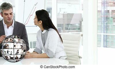 3d ożywienie, od, businesspeople