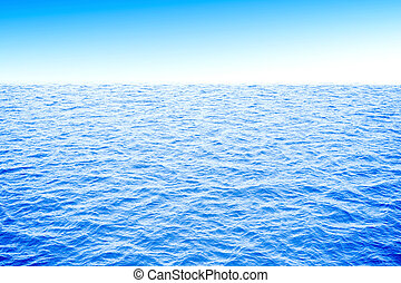 3d ocean with blue water and clear sky