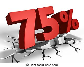 3d of 75 percent discount