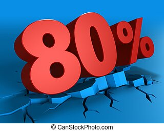 3d of 80 percent discount