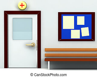 3d of an entrance of doctors room