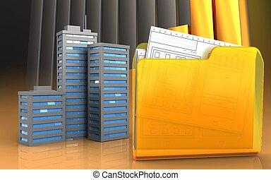 3d of folder