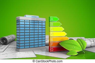 3d of generic building