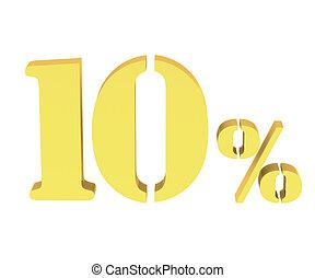 3d of golden 10 percent