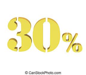 3d of golden 30 percent