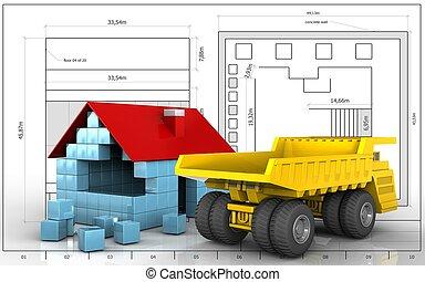 3d of heavy truck